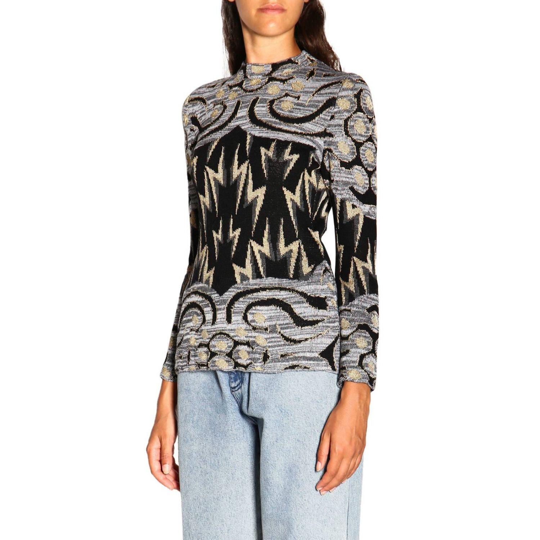 Sweater Alberta Ferretti: Alberta Ferretti crewneck sweater with jacquard pattern grey 4
