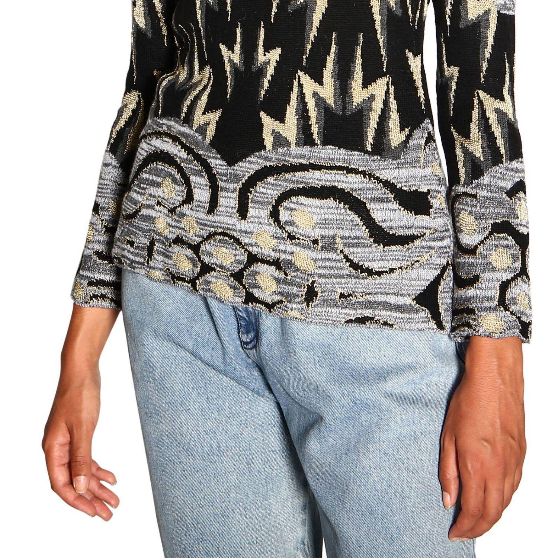 Sweater Alberta Ferretti: Alberta Ferretti crewneck sweater with jacquard pattern grey 5