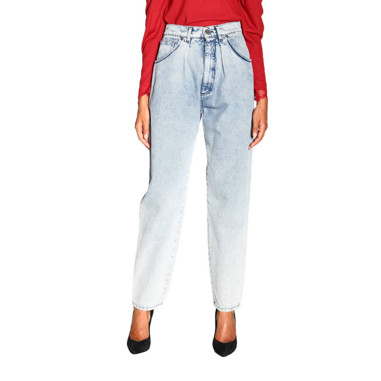 Jeans Alberta Ferretti: Alberta Ferretti high waisted jeans in used effect denim stone washed 1