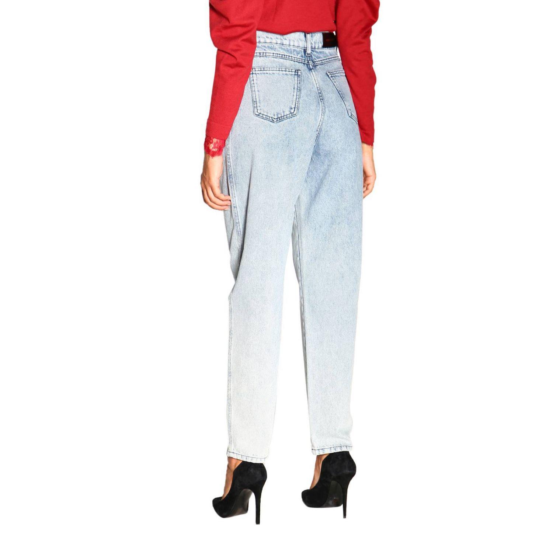 Jeans Alberta Ferretti: Alberta Ferretti high waisted jeans in used effect denim stone washed 3