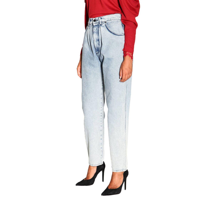 Jeans Alberta Ferretti: Alberta Ferretti high waisted jeans in used effect denim stone washed 4