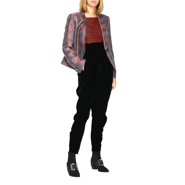 Pantalone Giorgio Armani in stile cavallerizza a vita alta in velluto nero 2