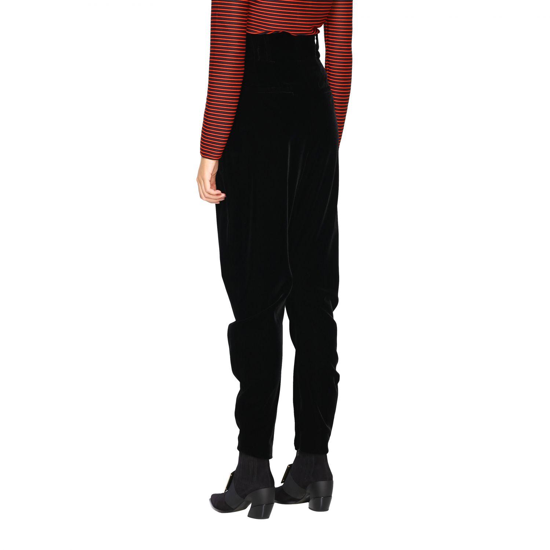 Pantalone Giorgio Armani in stile cavallerizza a vita alta in velluto nero 3