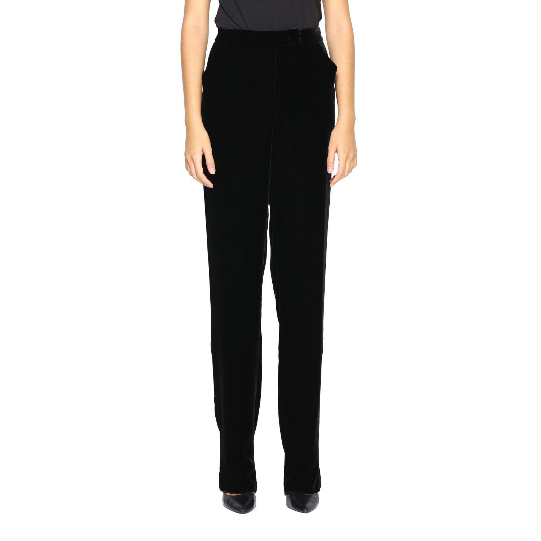 Pantalone Giorgio Armani in velluto nero 1
