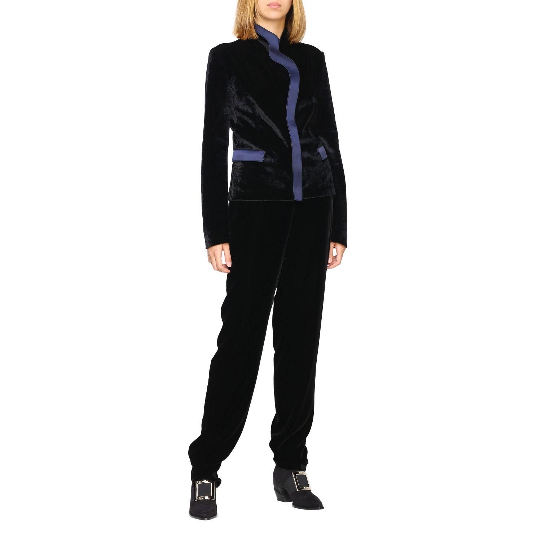Pantalone Giorgio Armani in velluto nero 2