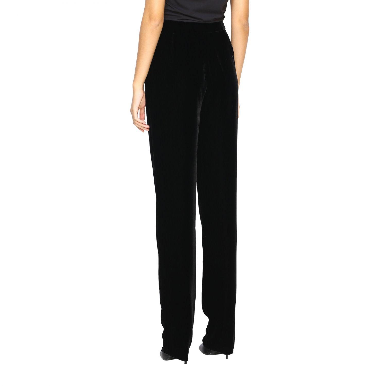 Pantalone Giorgio Armani in velluto nero 3