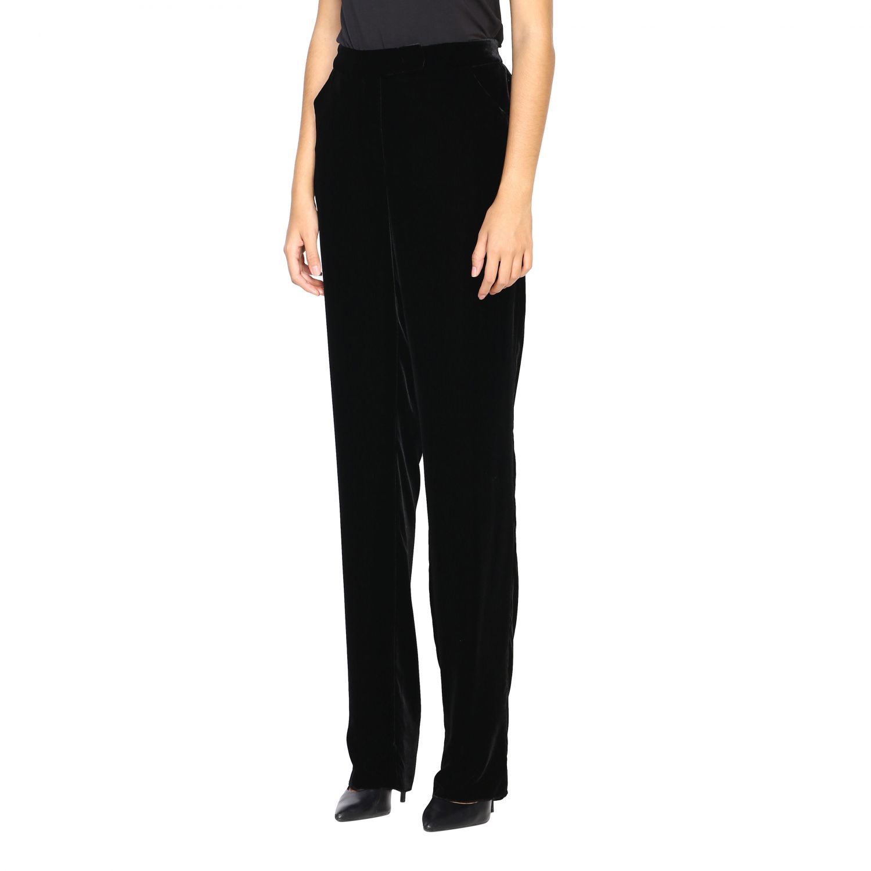 Pantalone Giorgio Armani in velluto nero 4