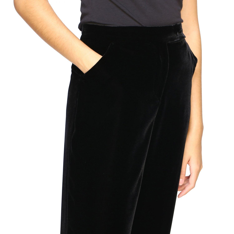 Pantalone Giorgio Armani in velluto nero 5