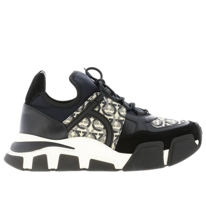 Cimbra Salvatore Ferragamo Sneakers mit durchgehendem Logo schwarz 1