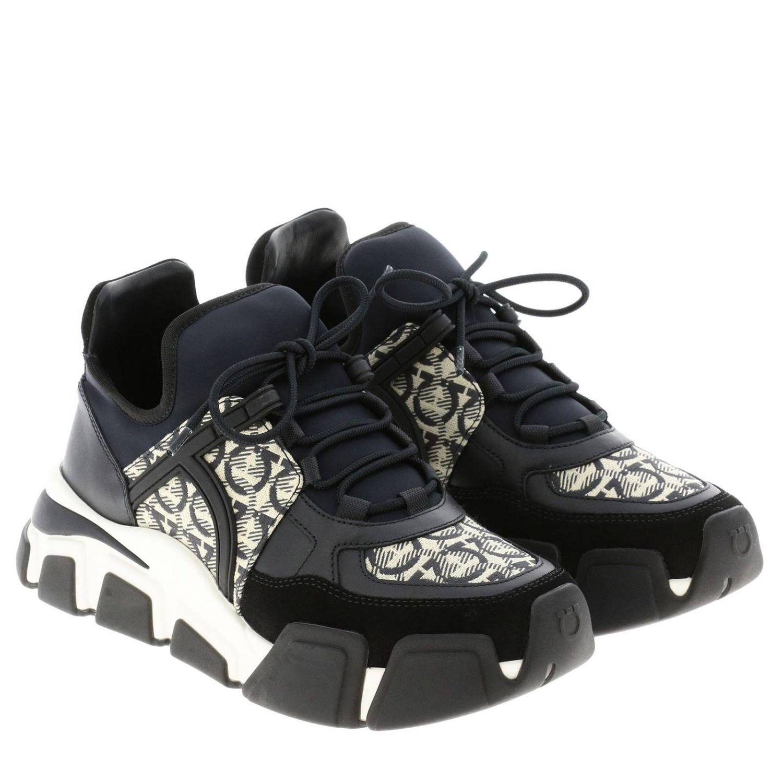 Cimbra Salvatore Ferragamo Sneakers mit durchgehendem Logo schwarz 2