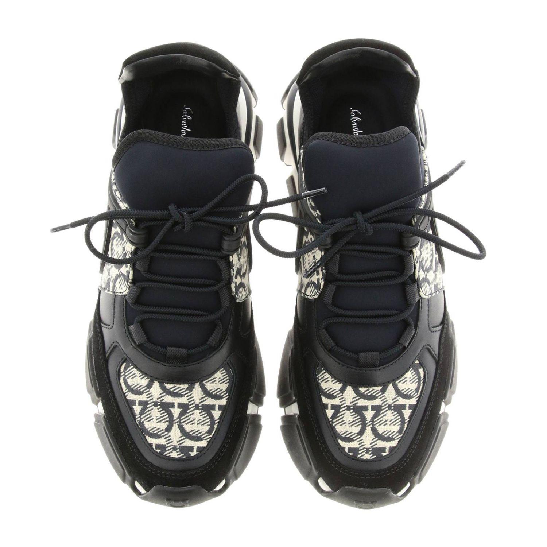 Cimbra Salvatore Ferragamo Sneakers mit durchgehendem Logo schwarz 3