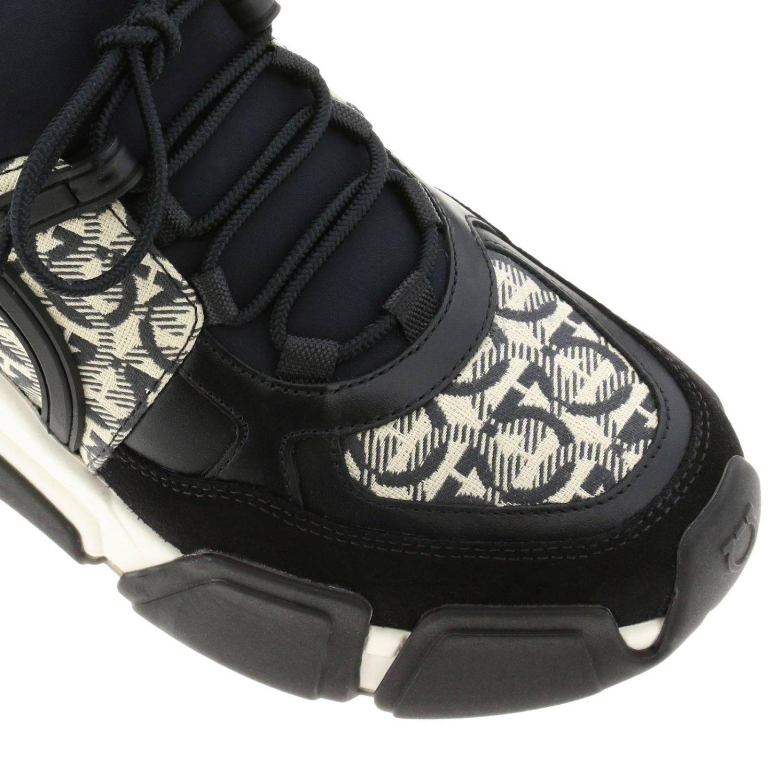 Кроссовки Cimbra Salvatore Ferragamo с логотипом all over черный 4
