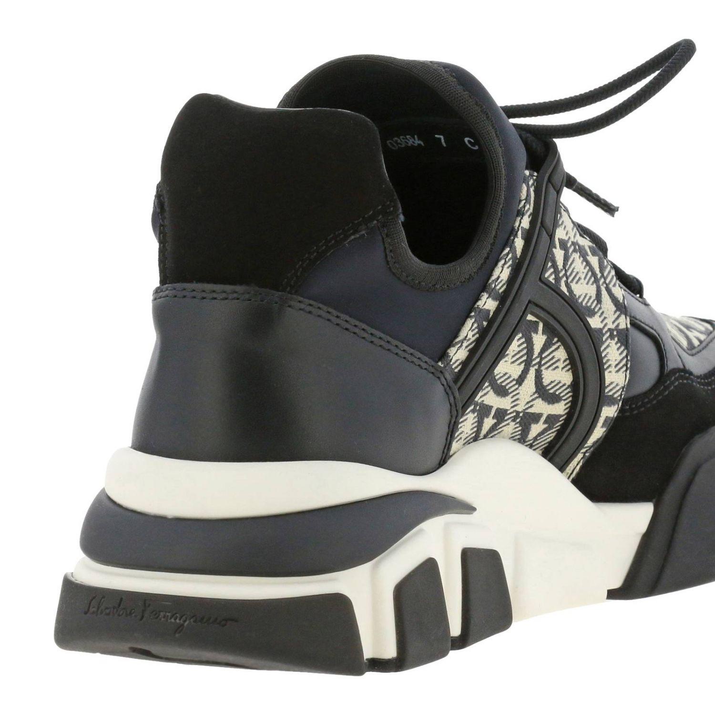 Cimbra Salvatore Ferragamo Sneakers mit durchgehendem Logo schwarz 5