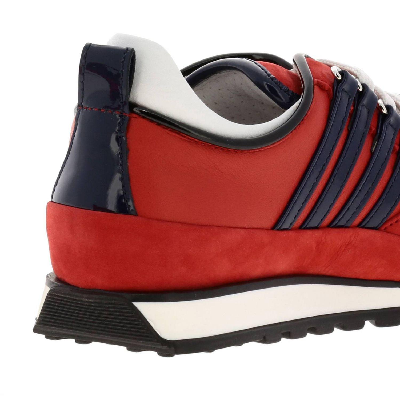 Sneakers DSquared2 in nabuk e vernice rosso 5