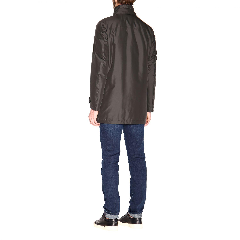 Manteau Morning Fay moyen en nylon imperméable avec gilet gris 3