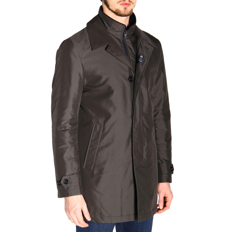 Manteau Morning Fay moyen en nylon imperméable avec gilet gris 5