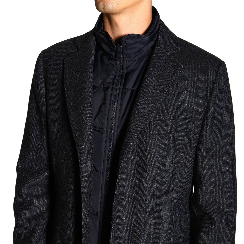 Cappotto Benjamin Fay di lana resca con gilet blue 5