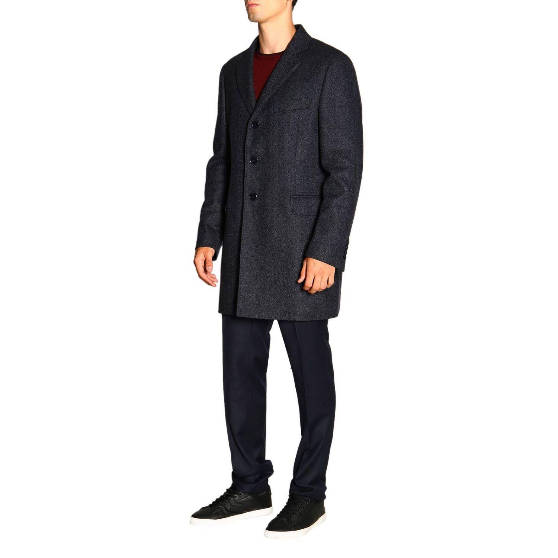 Cappotto Benjamin Fay di lana resca con gilet blue 6