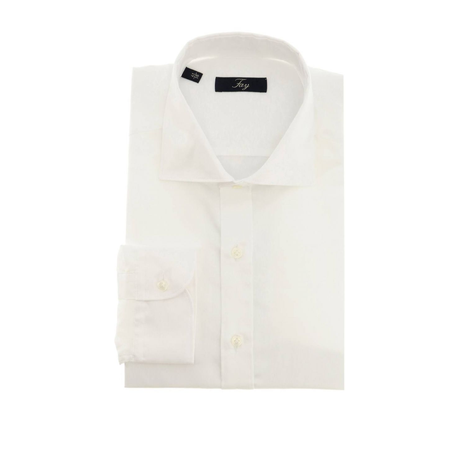 Fay fil a fil shirt with French collar white 1