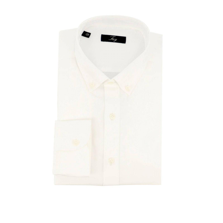 Camisa hombre Fay blanco 1