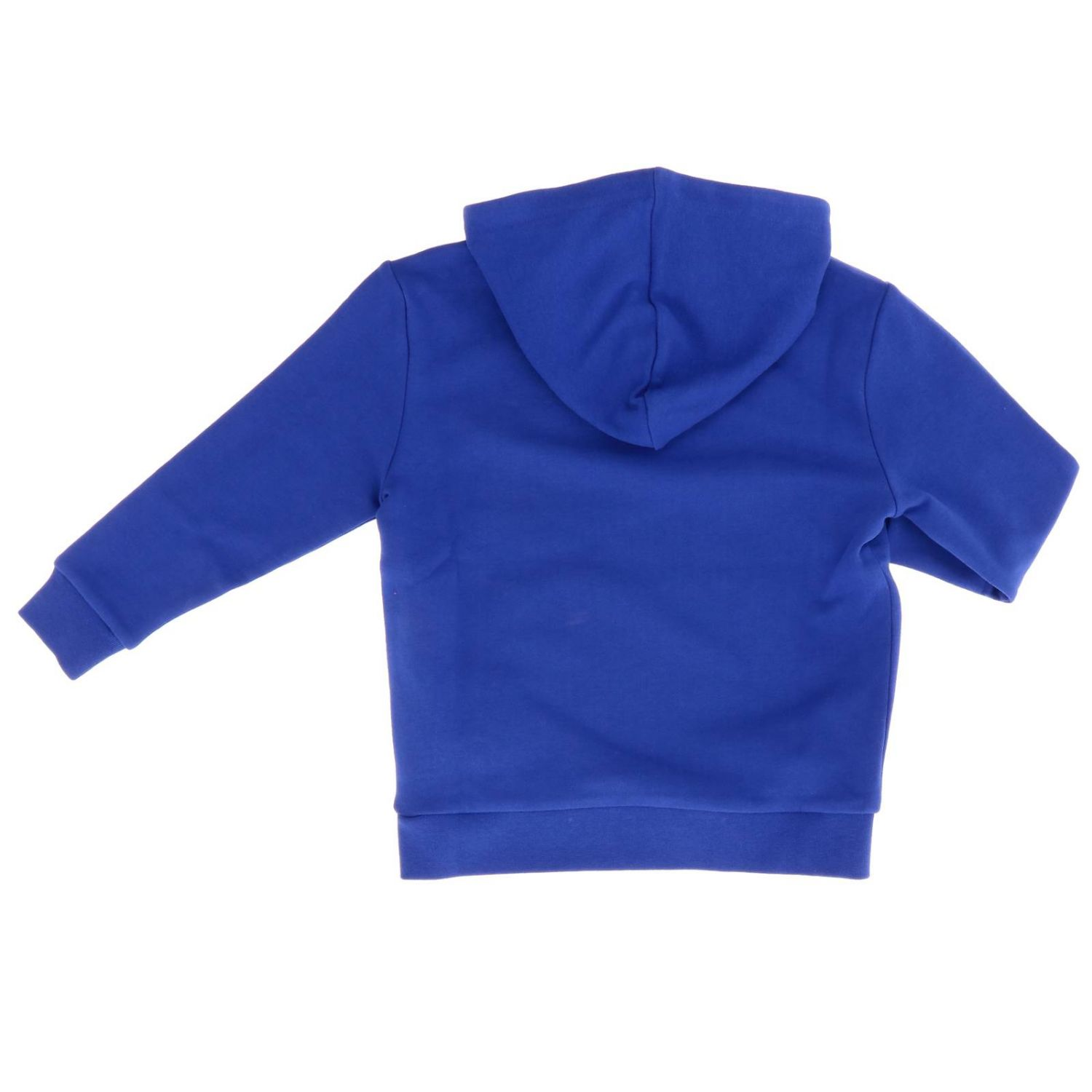 Fay sweatshirt with hood and logo blue 2