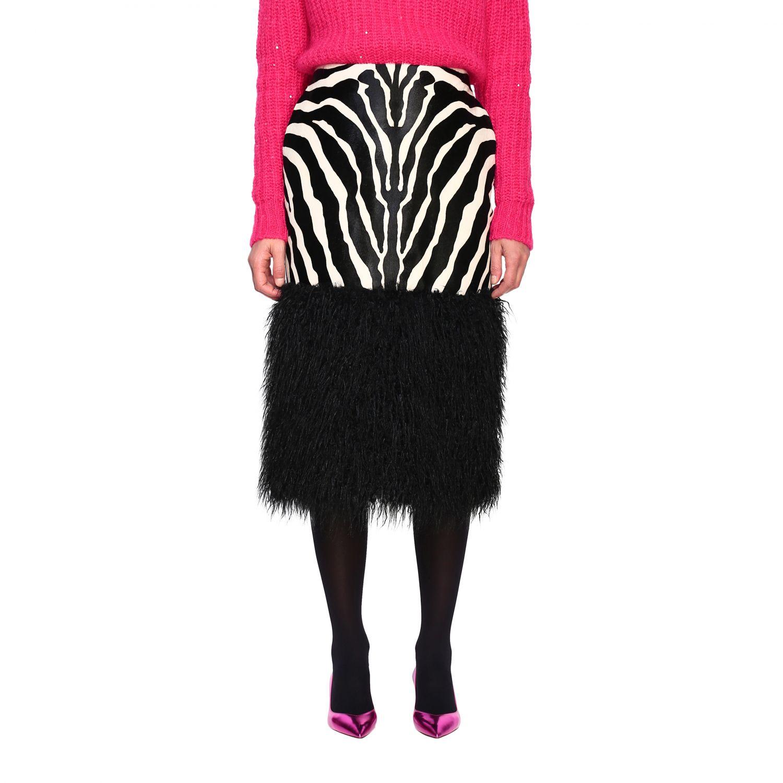 半身裙 女士 Saint Laurent 黑色 1