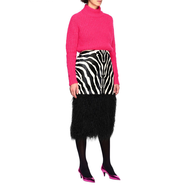 半身裙 女士 Saint Laurent 黑色 2