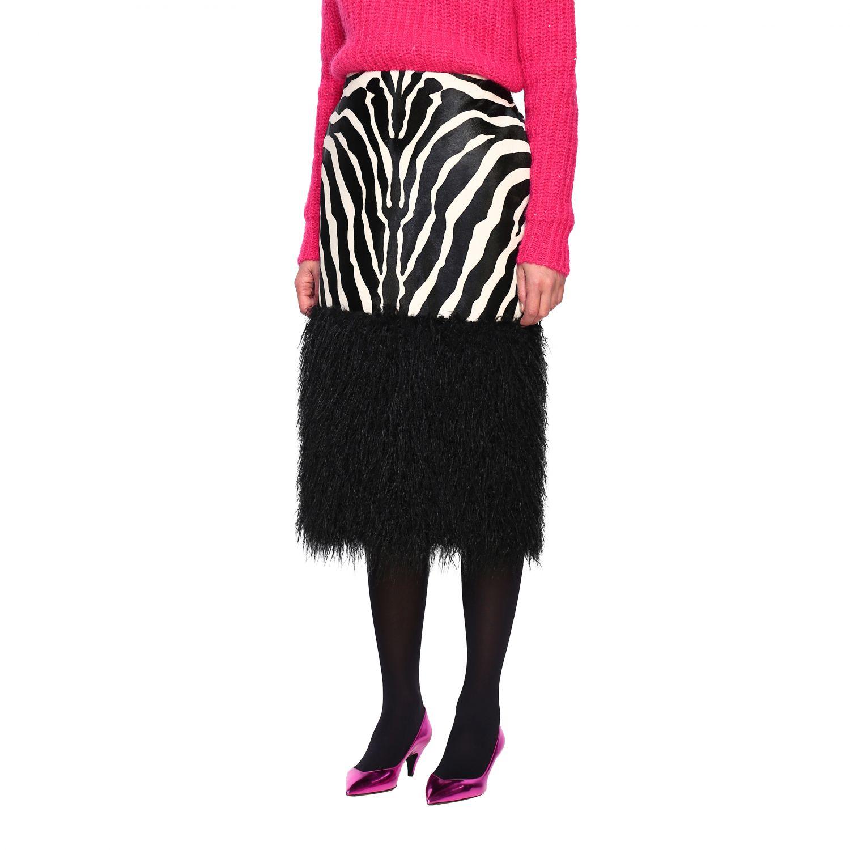 半身裙 女士 Saint Laurent 黑色 4