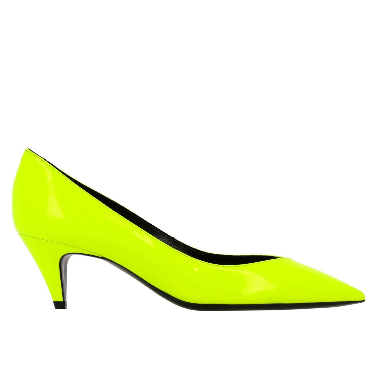 Kiki pointed toe in fluo paint by Saint Laurent yellow 1
