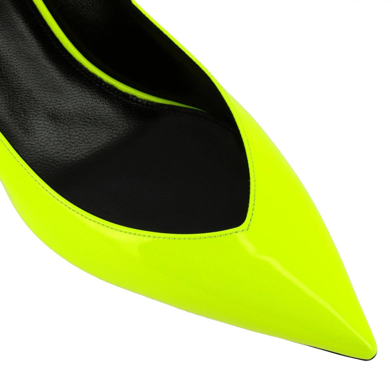 Kiki pointed toe in fluo paint by Saint Laurent yellow 4