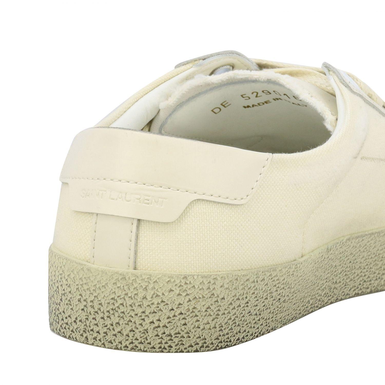 Sneakers aus Segeltuch mit Saint Laurent Schriftzug weiß 5