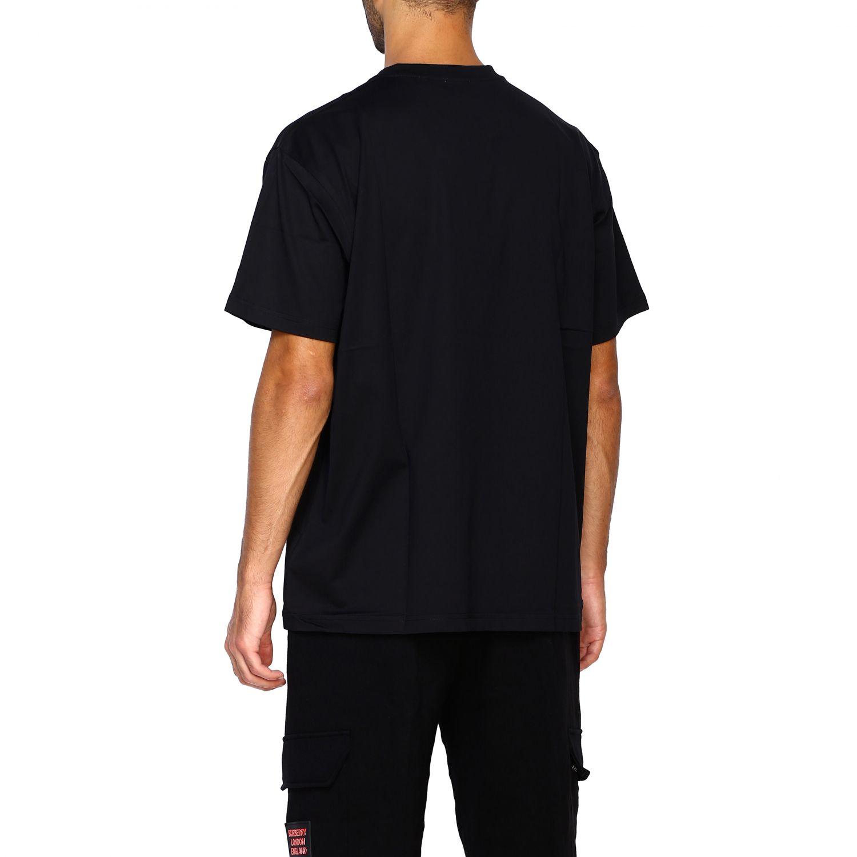 T-shirt Burberry: T-shirt Adson a girocollo con maxi stampa passaporto Burberry nero 3