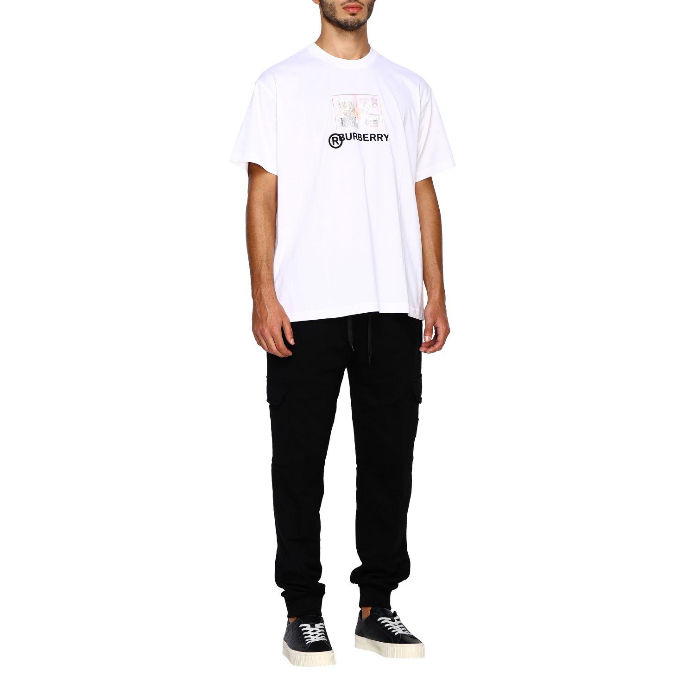 T-shirt Burberry: T-shirt Adson a girocollo con maxi stampa passaporto Burberry bianco 2
