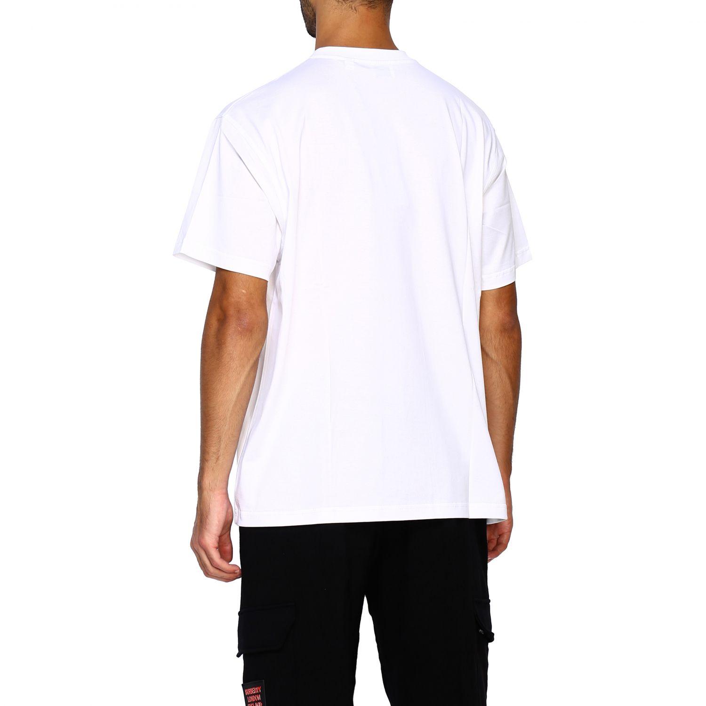 T-shirt Burberry: T-shirt Adson a girocollo con maxi stampa passaporto Burberry bianco 3