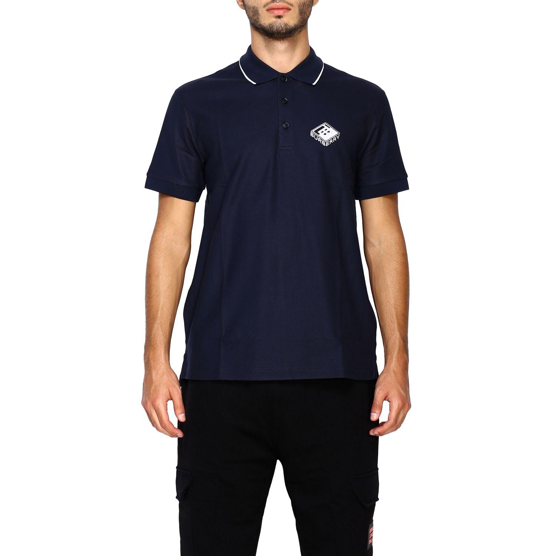 T-shirt Burberry: Polo Aiden a maniche corte con ricamo logo diamon tb blue 1
