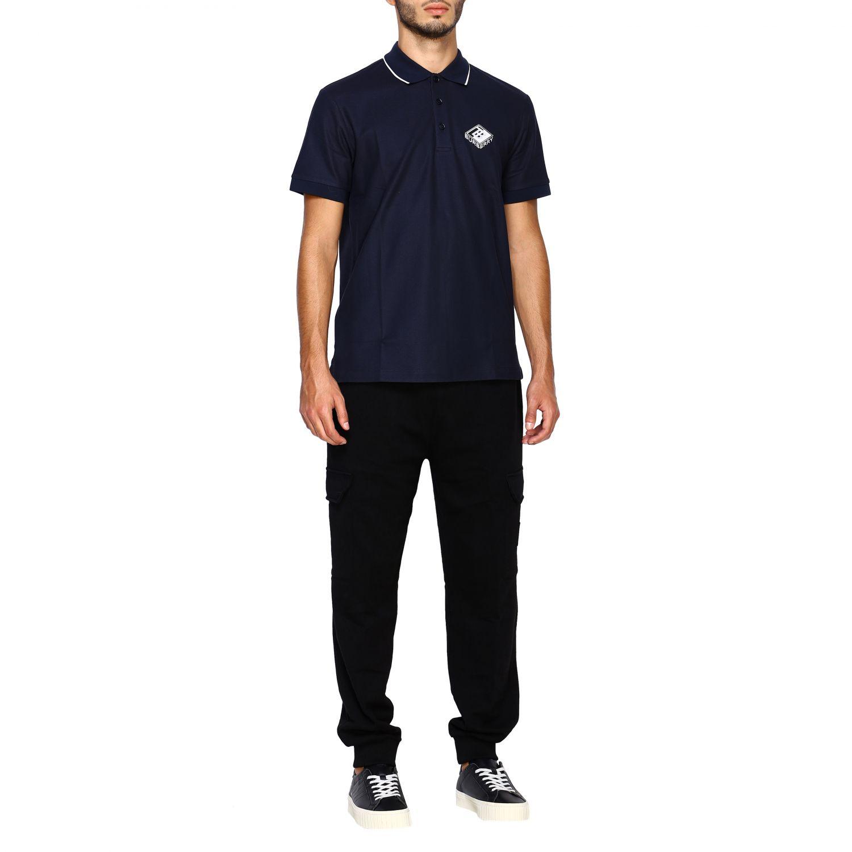 T-shirt Burberry: Polo Aiden a maniche corte con ricamo logo diamon tb blue 2