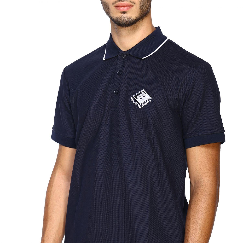 T-shirt Burberry: Polo Aiden a maniche corte con ricamo logo diamon tb blue 5