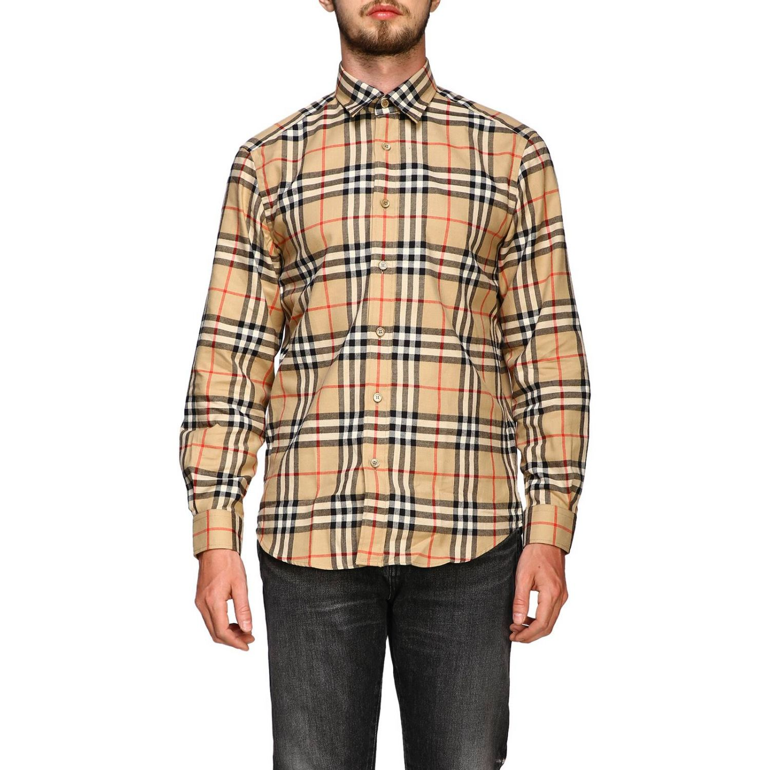 Chemise chambers Burberry motif check beige 1