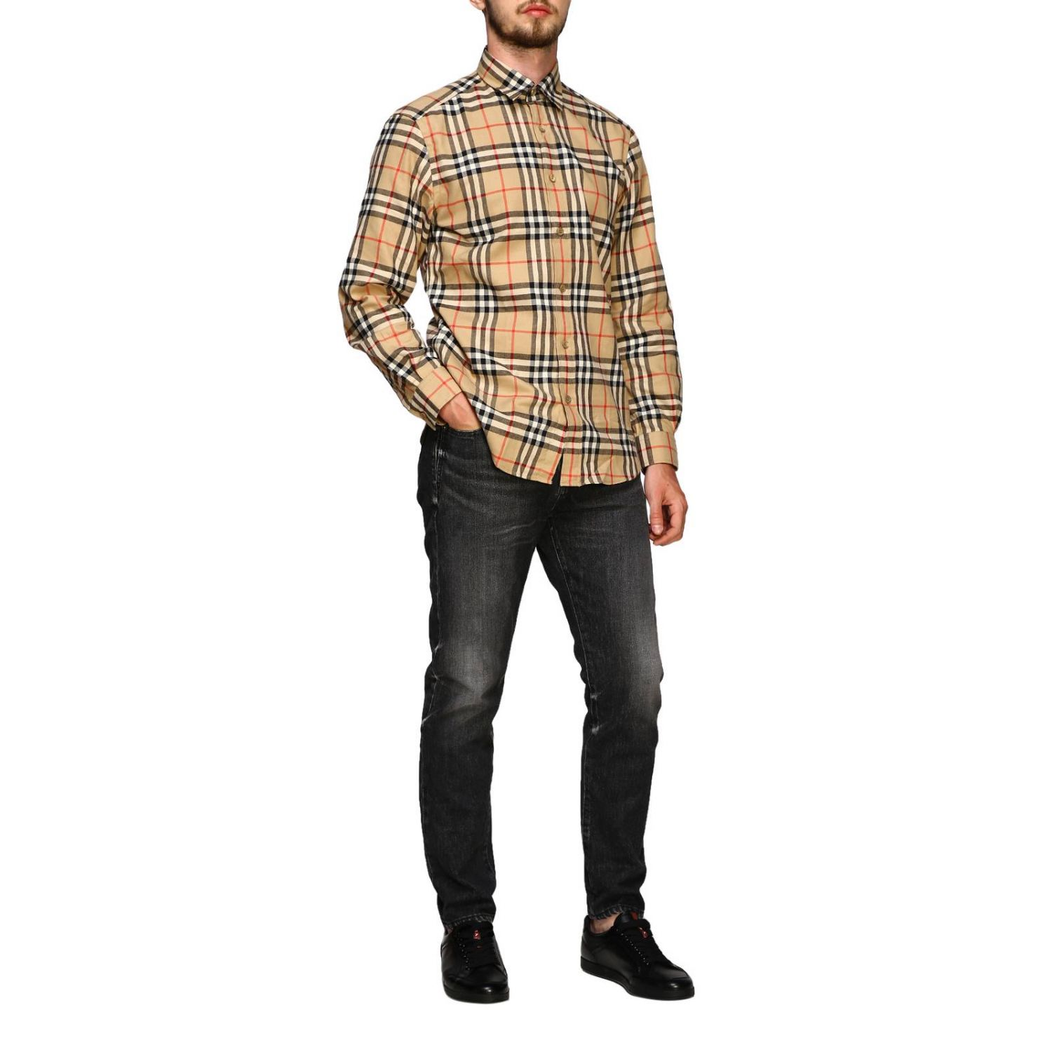 Chemise chambers Burberry motif check beige 2