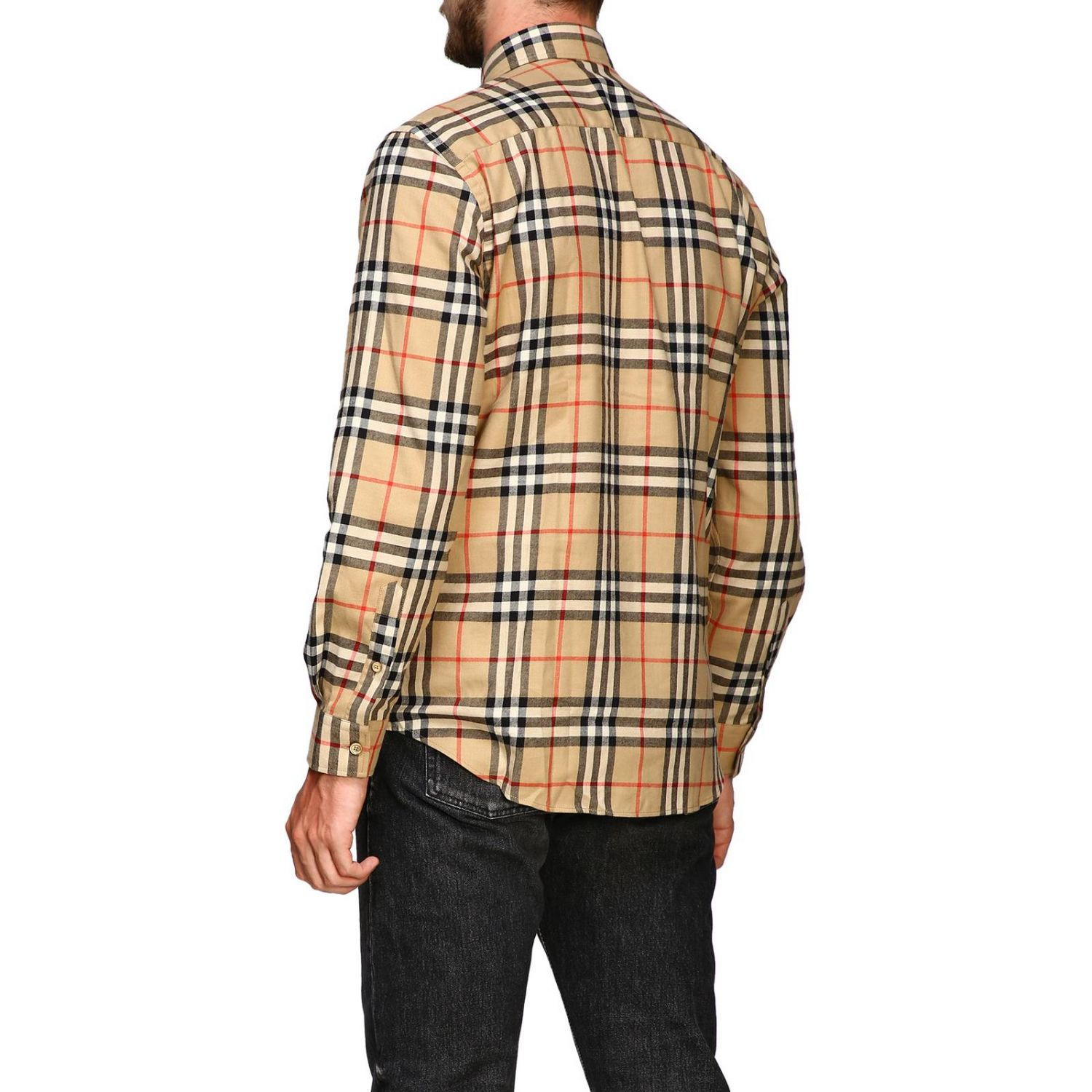 Chemise chambers Burberry motif check beige 3