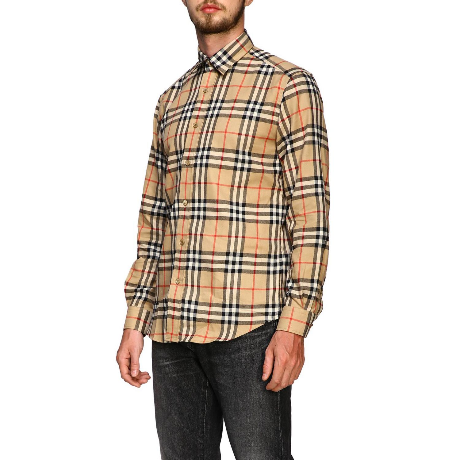 Chemise chambers Burberry motif check beige 4