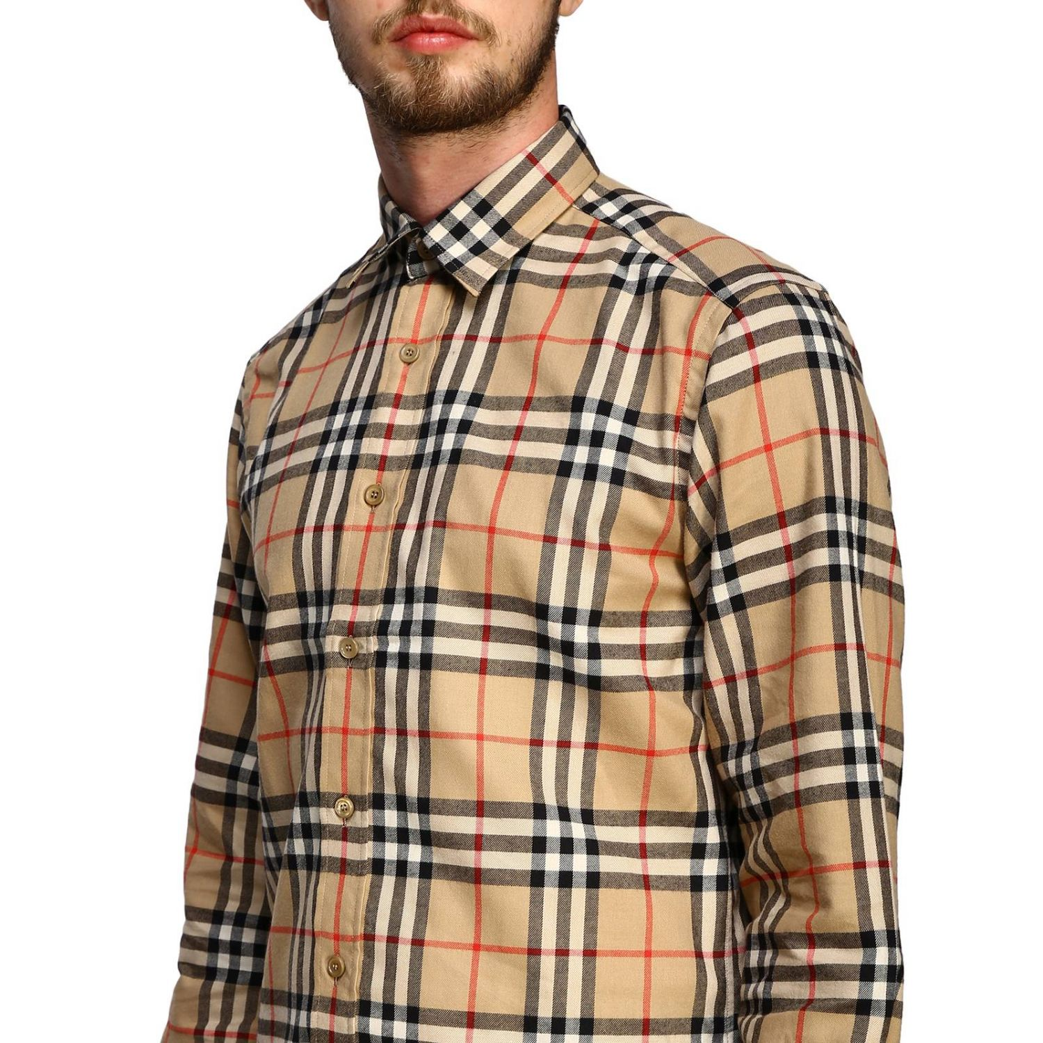 Chemise chambers Burberry motif check beige 5