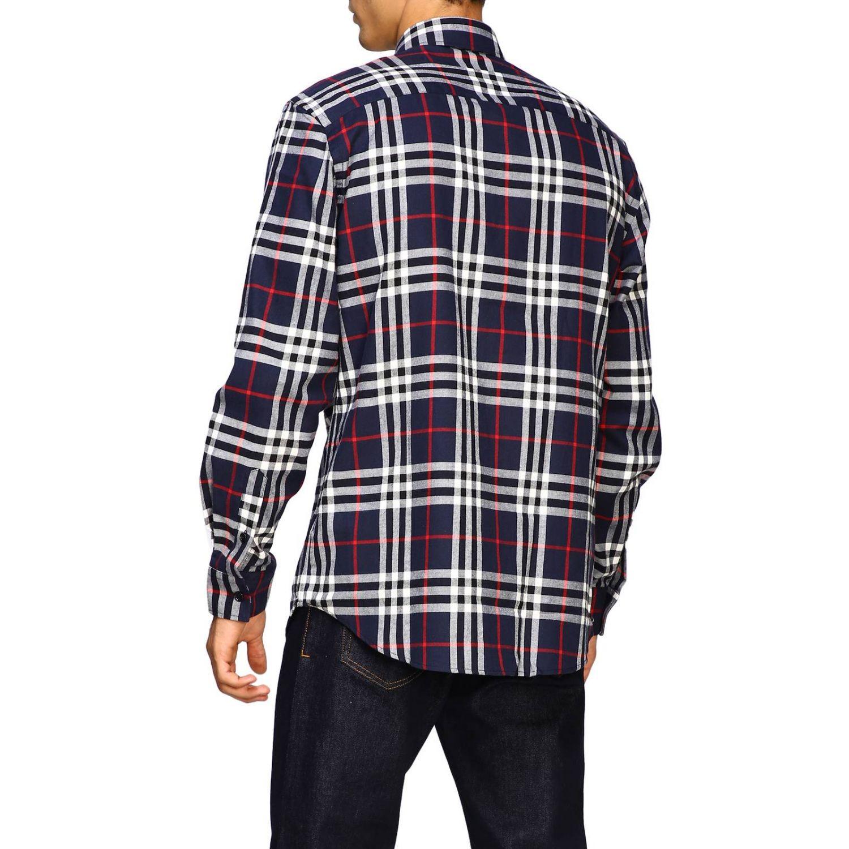 Рубашка Burberry: Рубашка Chambers в клетку Burberry синий 3