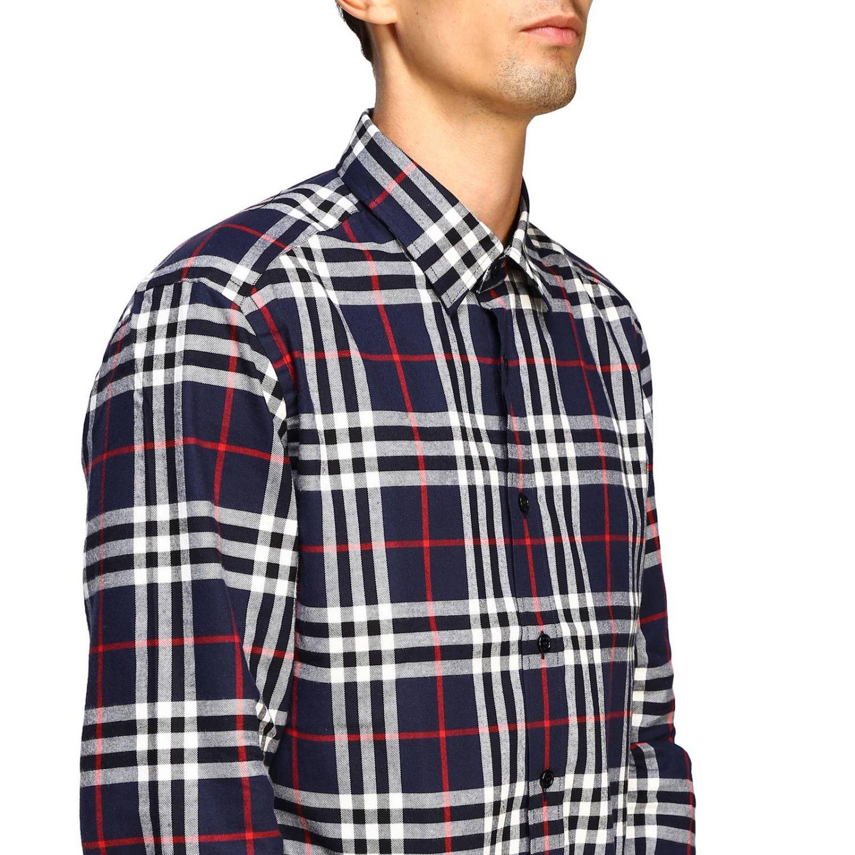 Рубашка Burberry: Рубашка Chambers в клетку Burberry синий 5