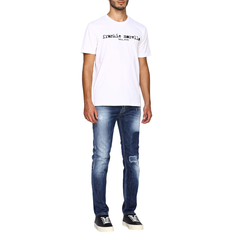 T-shirt homme Frankie Morello blanc 2