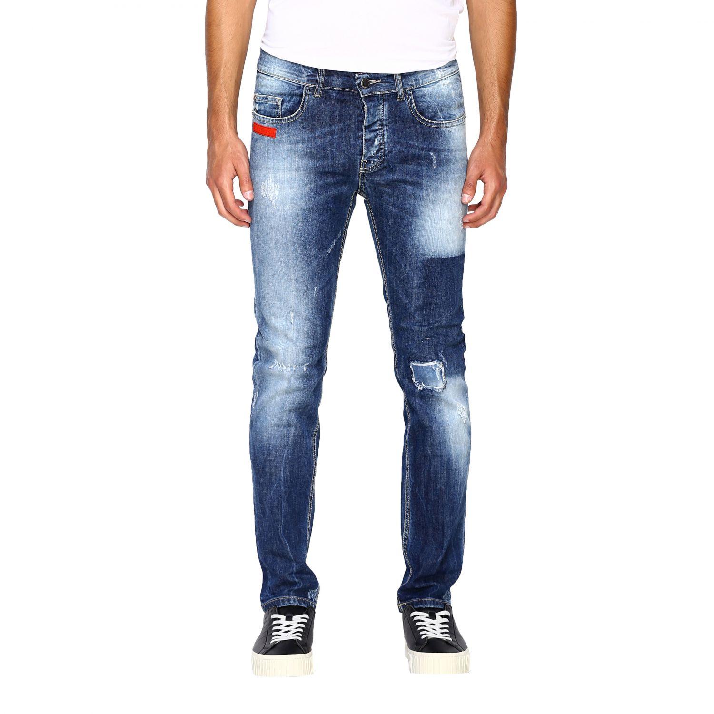 Jeans homme Frankie Morello délavé 1