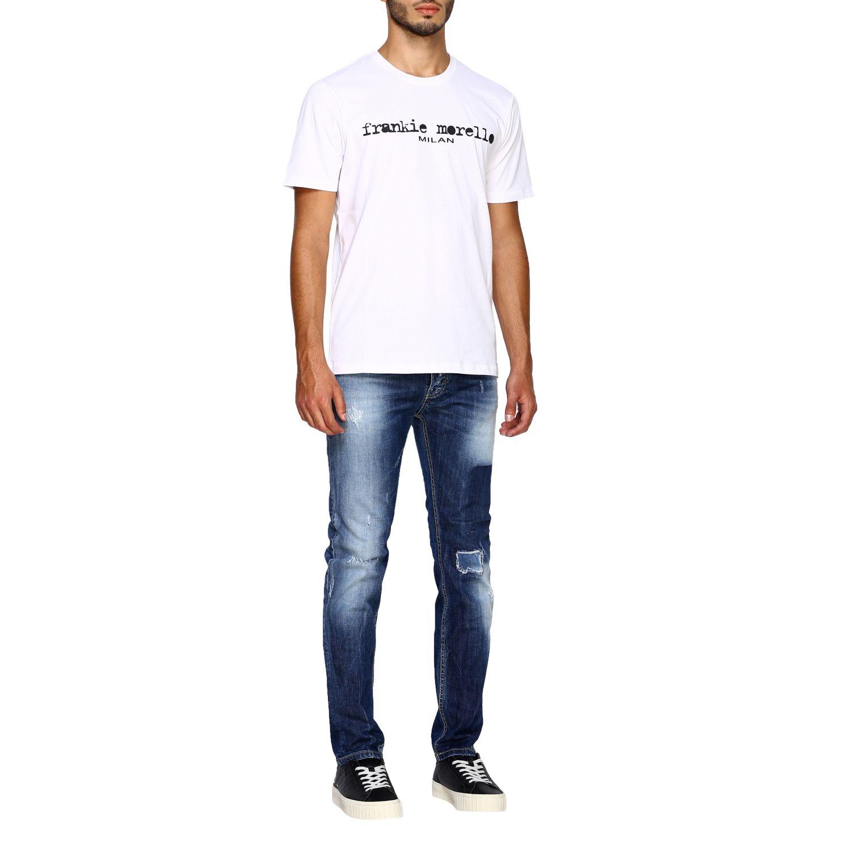 Jeans homme Frankie Morello délavé 2