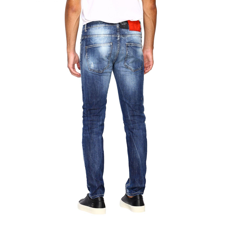 Jeans homme Frankie Morello délavé 3