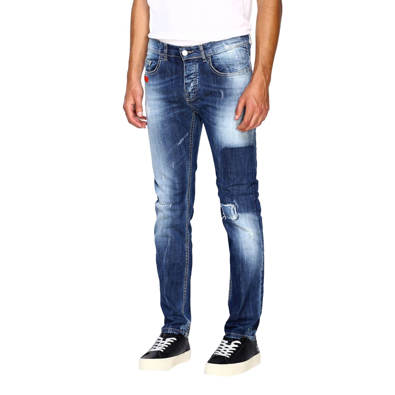 Jeans homme Frankie Morello délavé 4