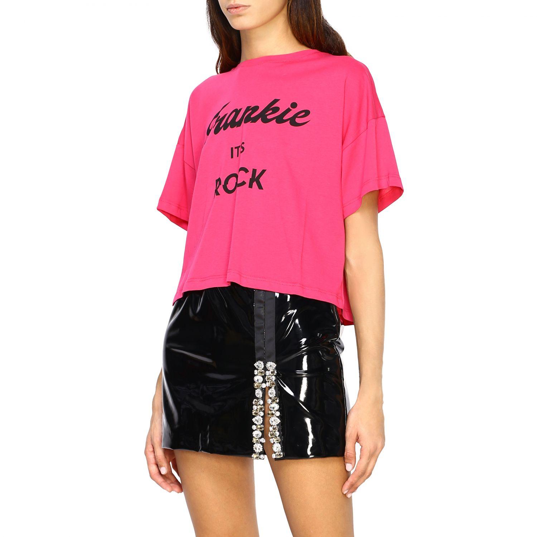 T-shirt femme Frankie Morello fraise 4